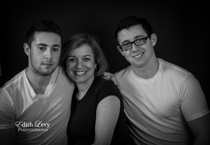 portraits, black and white, studio, family, brothers